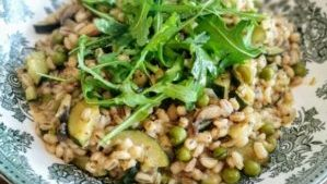 Italian style barley risotto